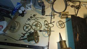 Gangrad Trieb Uhrmacher Arbeitstisch
