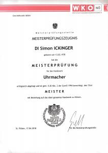 WKO Karlstein Thaya Meisterbrief