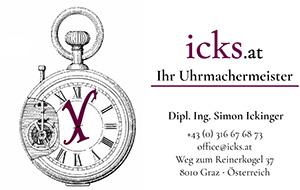 Visitenkarte icks.at | Ihr Uhrmachermeister